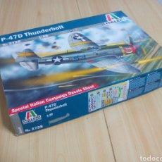 Modelos a escala: JUEGO DE CONSTRUCCION AVIÓN P-47D THUNDERBOLT ESCALA 1:48. Lote 156656234