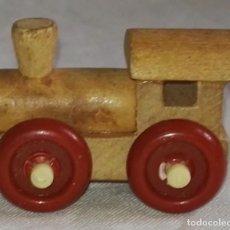 Modelos a escala - Locomotora En Miniatura De Madera - 3cm - 160485802