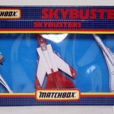 Modelos a escala: MATCHBOX SB 801 1989 SKYBUSTERS 3 MODELOS DE AVIONES - CONCORDE - MILITAR Y HELICÓPTERO. Lote 152809190