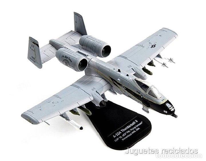 A-10A THUNDERBOLT II FLYING YANKEES USA 1:100 AVION DIECAST ITALERI (Juguetes - Modelos a escala)