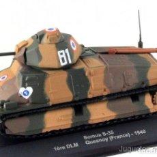 Modelos a escala: 1/43 SOMUA S-35 DLM QUESNOY FRANCE 1940 TANQUE IXO ALTAYA DIECAST. Lote 165915932