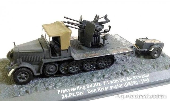 Flakvierling Sd.Kfz Trailer Don River USSR 1:72 WWII Tanque Altaya Diecast