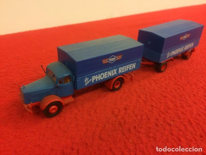 Modelos a escala: Camión Mercedes con remolque. Phoenix - Foto 2 - 171191628