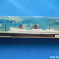 Modelos a escala: RMS QUEEN ELIZABETH. MINIC SHIPS. ESCALA 1:1200. FABRICADO EN HONG KONG, ROVEX LTD. MARGATE. INGLATE. Lote 171196064