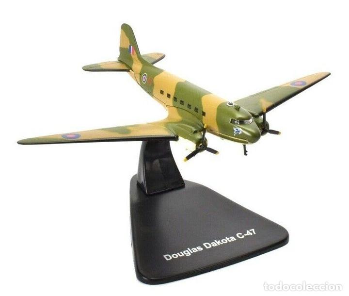 DOUGLAS DAKOTA C-47 1:144 AVION PLANE BOMBARDEROS WWII ATLAS (Juguetes - Modelos a escala)