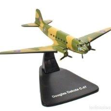 Modelos a escala: DOUGLAS DAKOTA C-47 1:144 AVION PLANE BOMBARDEROS WWII ATLAS. Lote 207036363