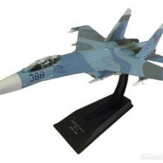 Modelos a escala: SUJOI SU-27P FLANKER URSS 1989 AVION DE COMBATE 1:100 SALVAT DIECAST. Lote 173036928