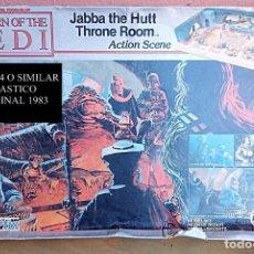 Modelos a escala: AIRFIX 910179 STAR WARS JABBA THE HUTT THRONE ROOM 1983 VINTAGE. Lote 174000159