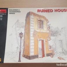 Modelos a escala: MAQUETA DIORAMA MINI ART 1/35 RUINED HOUSE. Lote 175314183