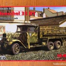 Modelos a escala: CAMIÓN HENSCHEL 33 D1. MAQUETA PARA REALIZAR.. Lote 175741438