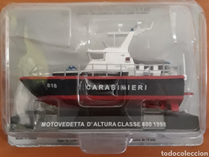 LANCHA MOTOVEDETTA D'ALTURA CLASSE 800 CARABINIERI 1998 (Juguetes - Modelos a escala)
