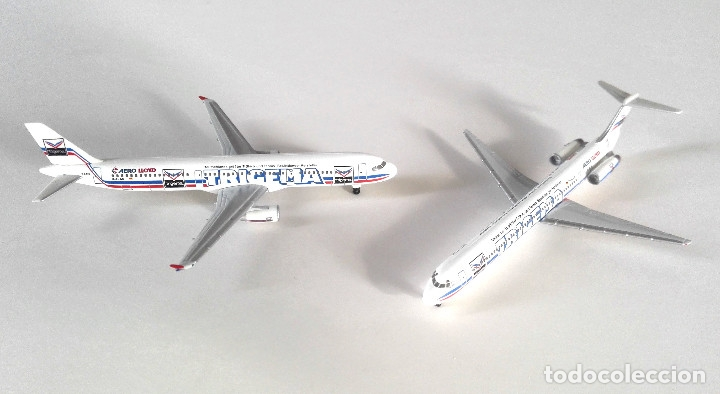 Modelos a escala: HERPA Wings 1:500 • AERO LLOYD Trigema SET (Boeing MD-83 + Airbus 321-200) • Metálicos 1/500 - Foto 2 - 177032594