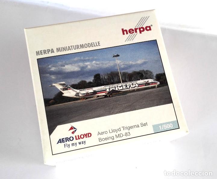 Modelos a escala: HERPA Wings 1:500 • AERO LLOYD Trigema SET (Boeing MD-83 + Airbus 321-200) • Metálicos 1/500 - Foto 3 - 177032594