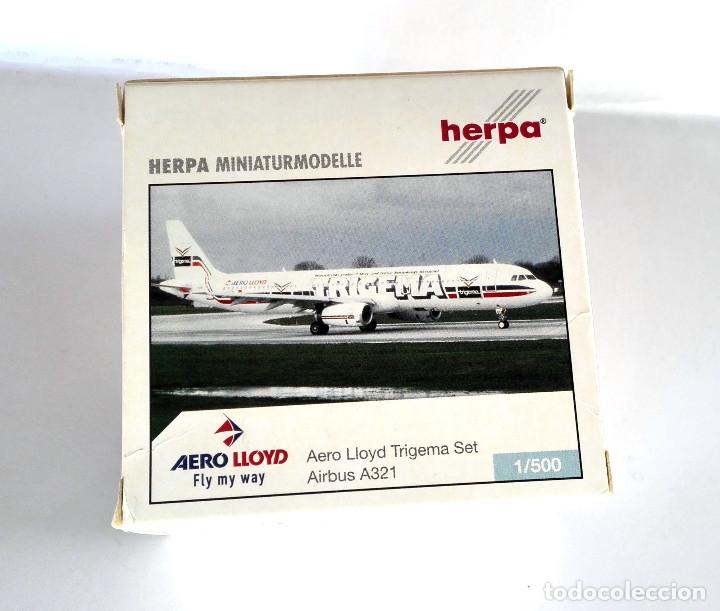 Modelos a escala: HERPA Wings 1:500 • AERO LLOYD Trigema SET (Boeing MD-83 + Airbus 321-200) • Metálicos 1/500 - Foto 5 - 177032594