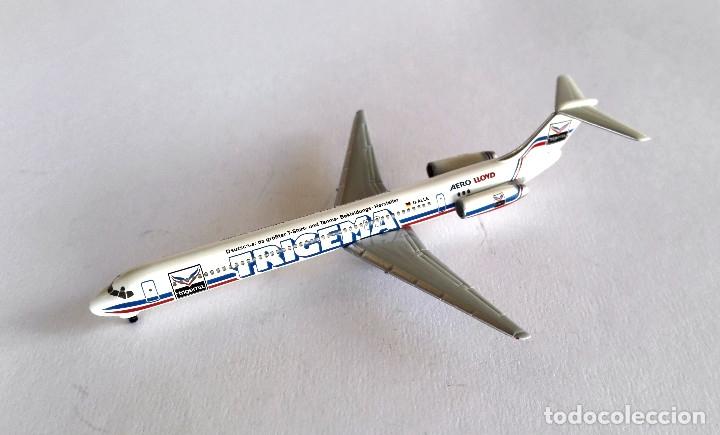 Modelos a escala: HERPA Wings 1:500 • AERO LLOYD Trigema SET (Boeing MD-83 + Airbus 321-200) • Metálicos 1/500 - Foto 6 - 177032594