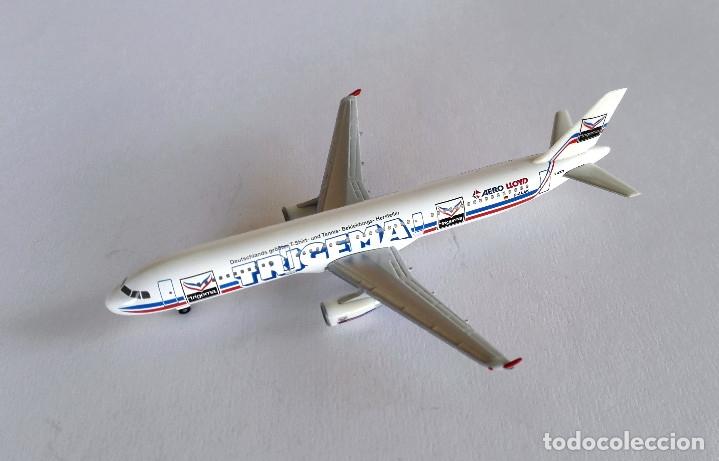 Modelos a escala: HERPA Wings 1:500 • AERO LLOYD Trigema SET (Boeing MD-83 + Airbus 321-200) • Metálicos 1/500 - Foto 7 - 177032594
