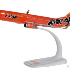 Modelos a escala: PRECIOSO AVIÓN BOEING 737 MANGO AIRLINES HERPA 1:200. Lote 179054131