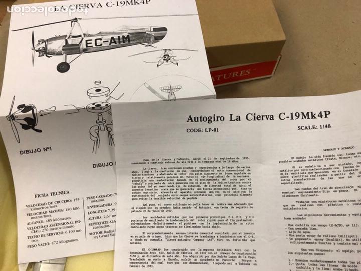 Modelos a escala: AUTOGIRO LA CIERVA C19MK 4P ESCALA 1/48 NUEVO. MINIATURAS ANDREA. EN CAJA, CONO NUEVO. - Foto 4 - 183588416