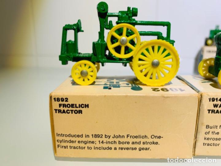 Modelos a escala: Antigua Colección ERTL 8 Tractores John Deere 1892-1973. Completa+Extraordinario estado. Ppios. '70s - Foto 2 - 183820612