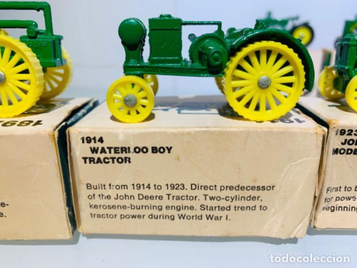 Modelos a escala: Antigua Colección ERTL 8 Tractores John Deere 1892-1973. Completa+Extraordinario estado. Ppios. '70s - Foto 3 - 183820612