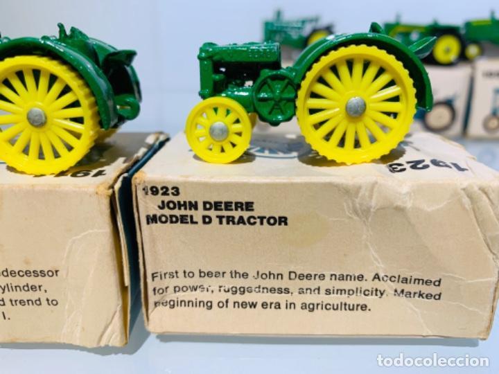 Modelos a escala: Antigua Colección ERTL 8 Tractores John Deere 1892-1973. Completa+Extraordinario estado. Ppios. '70s - Foto 4 - 183820612