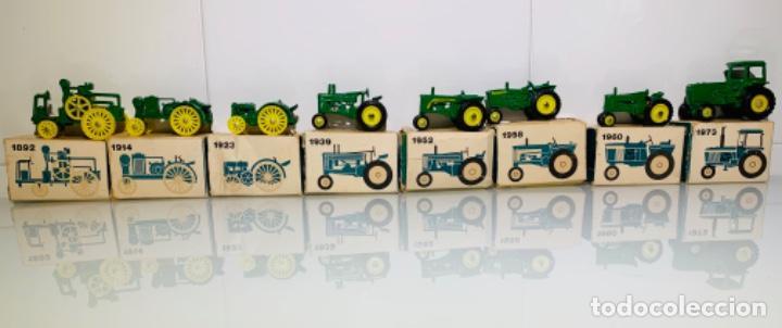Modelos a escala: Antigua Colección ERTL 8 Tractores John Deere 1892-1973. Completa+Extraordinario estado. Ppios. '70s - Foto 5 - 183820612