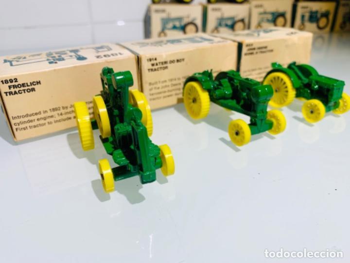 Modelos a escala: Antigua Colección ERTL 8 Tractores John Deere 1892-1973. Completa+Extraordinario estado. Ppios. '70s - Foto 6 - 183820612