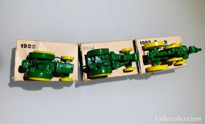 Modelos a escala: Antigua Colección ERTL 8 Tractores John Deere 1892-1973. Completa+Extraordinario estado. Ppios. '70s - Foto 7 - 183820612