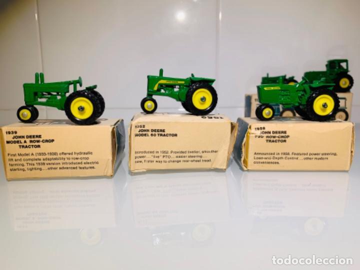 Modelos a escala: Antigua Colección ERTL 8 Tractores John Deere 1892-1973. Completa+Extraordinario estado. Ppios. '70s - Foto 10 - 183820612