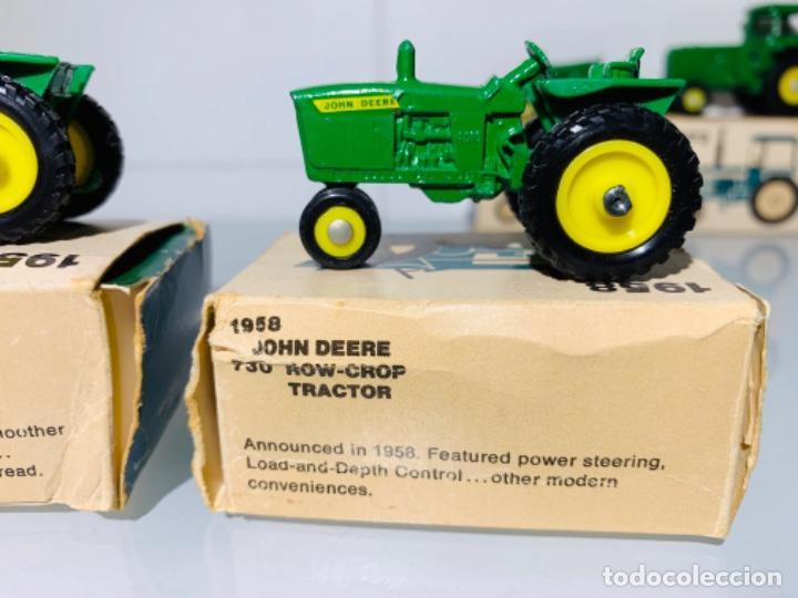 Modelos a escala: Antigua Colección ERTL 8 Tractores John Deere 1892-1973. Completa+Extraordinario estado. Ppios. '70s - Foto 12 - 183820612