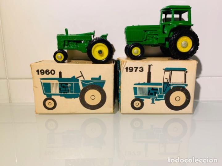Modelos a escala: Antigua Colección ERTL 8 Tractores John Deere 1892-1973. Completa+Extraordinario estado. Ppios. '70s - Foto 17 - 183820612