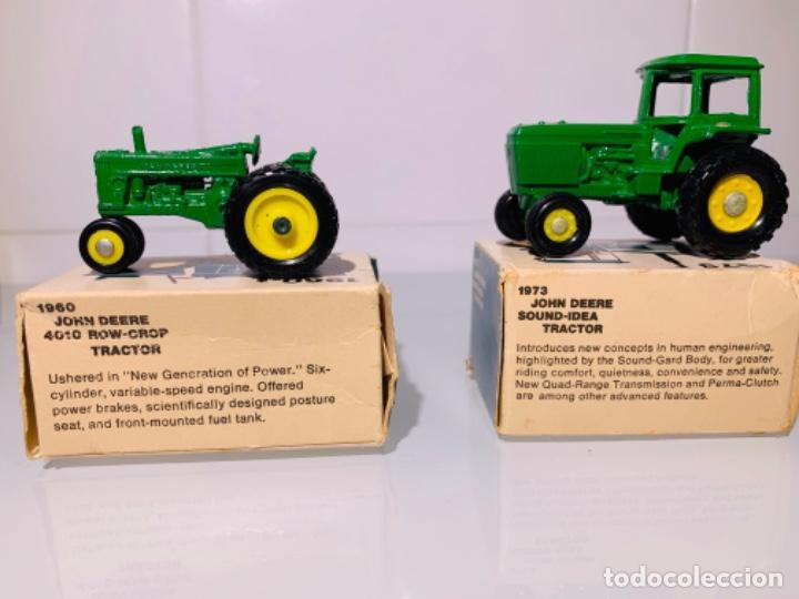 Modelos a escala: Antigua Colección ERTL 8 Tractores John Deere 1892-1973. Completa+Extraordinario estado. Ppios. '70s - Foto 18 - 183820612