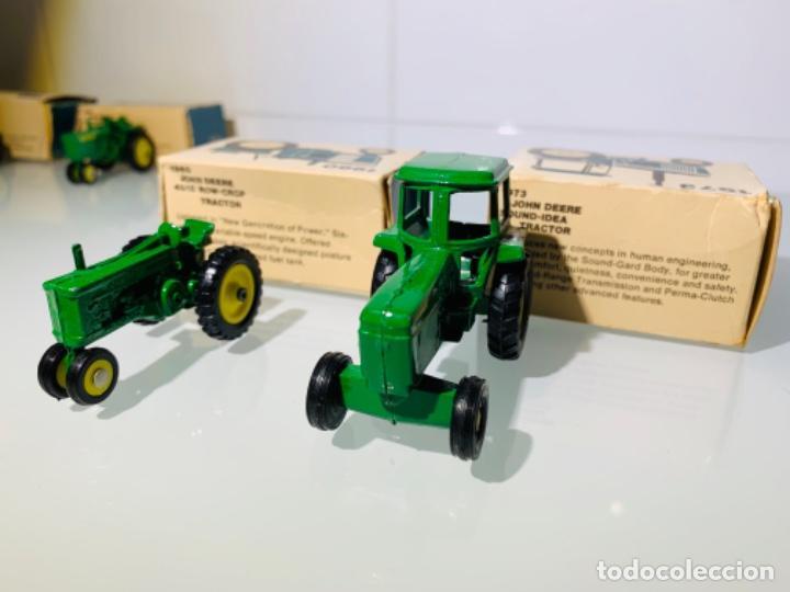 Modelos a escala: Antigua Colección ERTL 8 Tractores John Deere 1892-1973. Completa+Extraordinario estado. Ppios. '70s - Foto 21 - 183820612