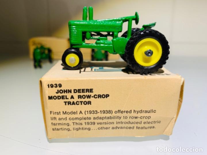 Modelos a escala: Antigua Colección ERTL 8 Tractores John Deere 1892-1973. Completa+Extraordinario estado. Ppios. '70s - Foto 24 - 183820612