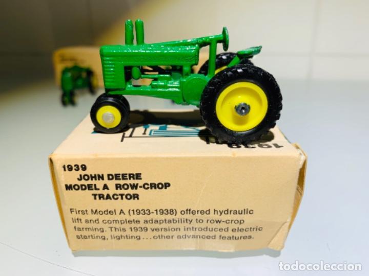 Modelos a escala: Antigua Colección ERTL 8 Tractores John Deere 1892-1973. Completa+Extraordinario estado. Ppios. '70s - Foto 25 - 183820612