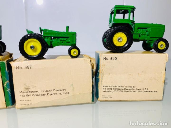 Modelos a escala: Antigua Colección ERTL 8 Tractores John Deere 1892-1973. Completa+Extraordinario estado. Ppios. '70s - Foto 28 - 183820612