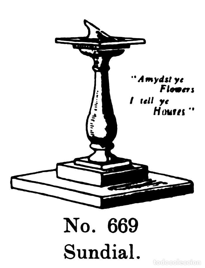 Modelos a escala: BRITAINS LTD FARM 669 (BRITCAT 1940) SUNDIAL - MINI RELOJ SOLAR CON PEDESTAL - Foto 5 - 94174065
