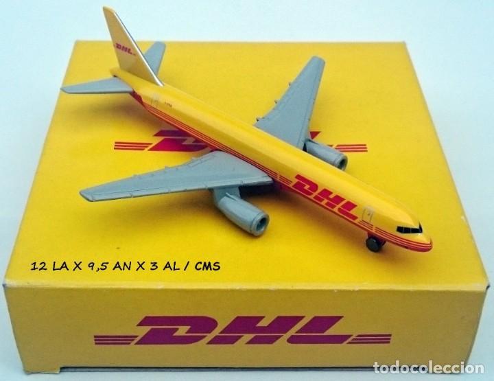 DHL PUBLICIDAD ORIGINAL - BOEING 757 AVIÓN DE CARGA - OBSOLETO (Juguetes - Modelos a escala)