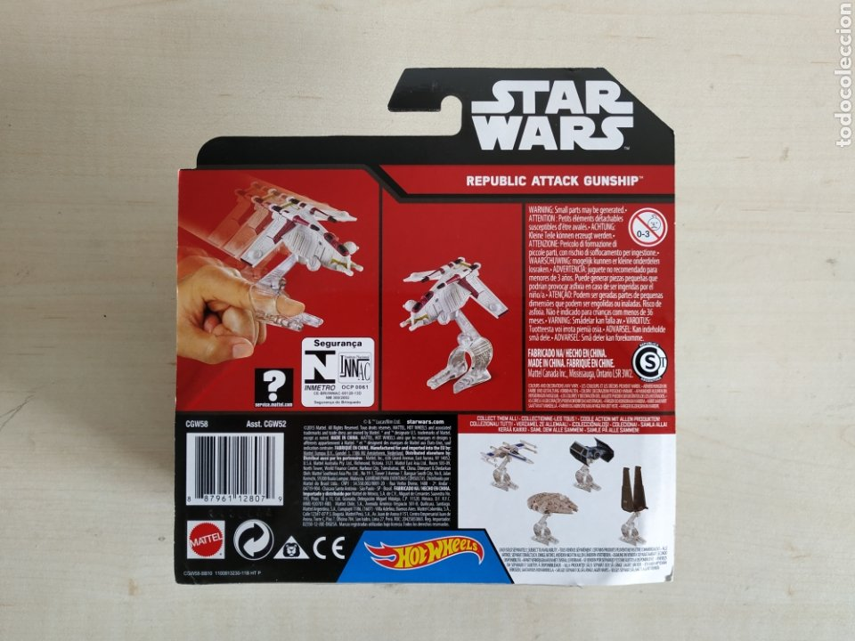 Modelos a escala: STAR WARS HOT WHEELS REPLUBLIC ATTACK GUNSHIP BLISTER NUEVO SIN ABRIR MATTEL - Foto 2 - 194205652