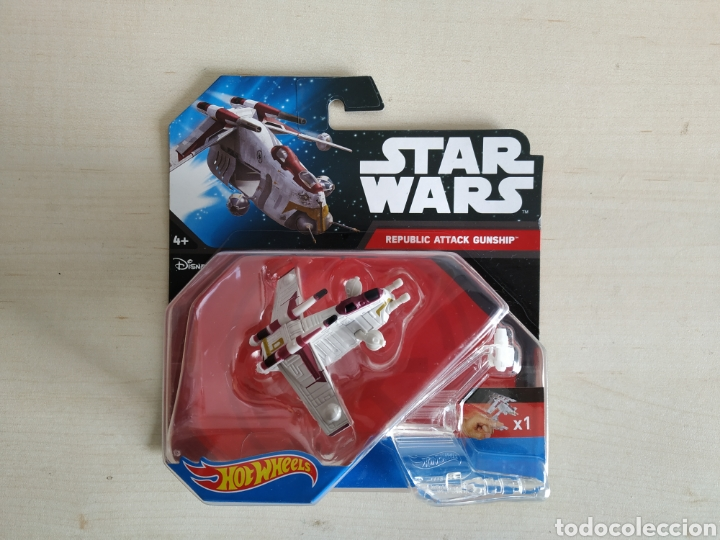 Modelos a escala: STAR WARS HOT WHEELS REPLUBLIC ATTACK GUNSHIP BLISTER NUEVO SIN ABRIR MATTEL - Foto 1 - 194205652