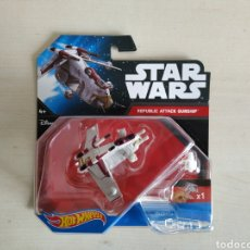 Modelos a escala: STAR WARS HOT WHEELS REPLUBLIC ATTACK GUNSHIP BLISTER NUEVO SIN ABRIR MATTEL. Lote 194205652