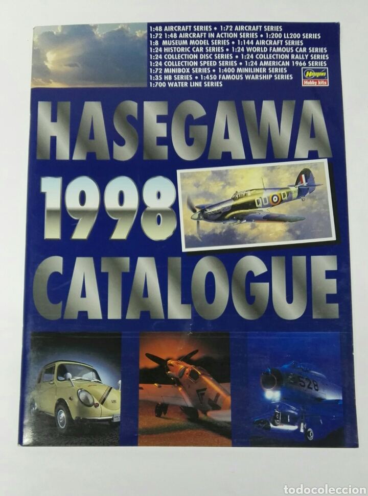 HASEGAWA CATALOGUE 1998 MAQUETAS AVIONES COCHES (Juguetes - Modelos a escala)