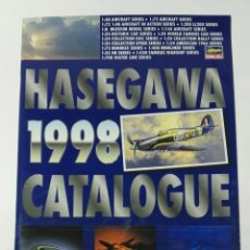 Modelos a escala: HASEGAWA CATALOGUE 1998 MAQUETAS AVIONES COCHES. Lote 194253453