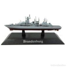 Modelos a escala: BRANDENBURG BARCO DE GUERRA 1:1250 ACORAZADO DIECAST AGOSTINI *65. Lote 194303206