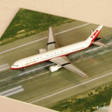 Modelos a escala: HERPA WINGS 1:500 • BOEING 757-200 TRANS WORLD AIRLINES TWA • METÁLICO ESCALA 1/500. Lote 195246797