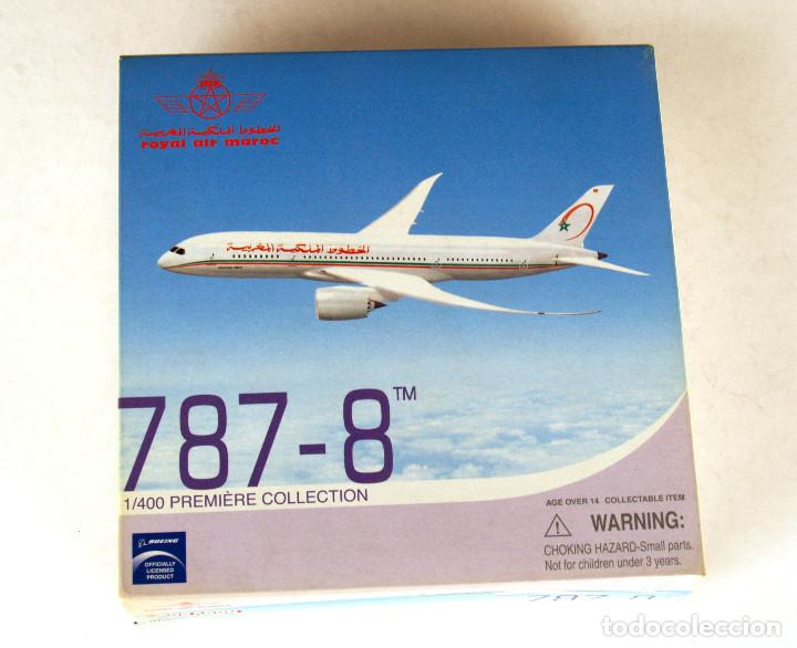 Modelos a escala: DRAGON Wings 1:400 • BOEING 787-8 Royal Air Maroc • Metálico 1/400 - Foto 5 - 195247155