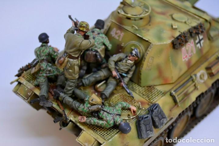 Modelos a escala: Modelo a escala 1/35 UNICO Montado y pintado - Panther A & Fallschirmjägers under fire WestFront - Foto 2 - 195330572