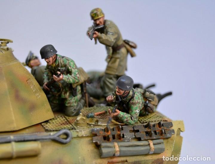 Modelos a escala: Modelo a escala 1/35 UNICO Montado y pintado - Panther A & Fallschirmjägers under fire WestFront - Foto 3 - 195330572