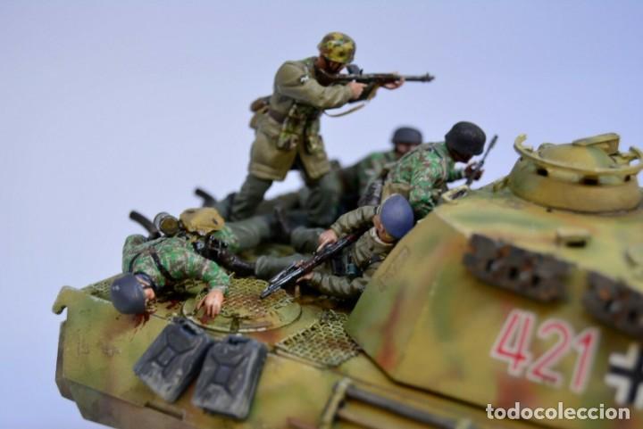 Modelos a escala: Modelo a escala 1/35 UNICO Montado y pintado - Panther A & Fallschirmjägers under fire WestFront - Foto 4 - 195330572