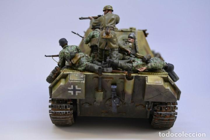 Modelos a escala: Modelo a escala 1/35 UNICO Montado y pintado - Panther A & Fallschirmjägers under fire WestFront - Foto 5 - 195330572